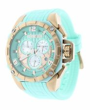 Technosport TS-104-7 Womens 40MM Aquamarine Rose Gold Swiss Chronograph Watch
