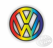VW Rainbow Sticker Decal Funny Car Van Volkswagen Dub Bug Camper Bus