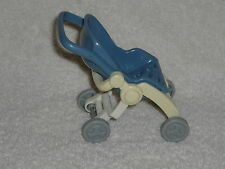 Fisher Price Loving Family Dollhouse Purple Blue Fold Up Baby Stroller