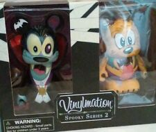 "DISNEY'S VINYLMATION 3"" SET--SPOOKY SERIES 2--GOOFY & PLUTO FIGURES (NEW)"
