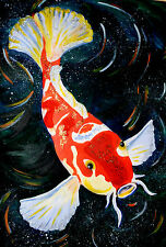 Framed Print - Oriental Style Koi Carp Fish (Picture Poster Animal Art Japanese)
