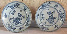 assiette Chine bleu 18 ème 2 pièces chinese blue plate
