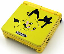 Custom Printed & Sprayed Re-shell Pichu Pokemon SP Nintendo Game Boy Advanced SP