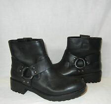Urban Outfitters Silence & Noise Women's Leather Moto Boot Retail $99 size 6