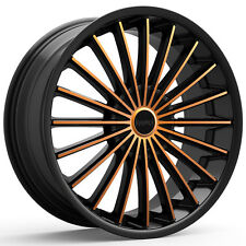 4-NEW KRONIK 406 KUSH 18x8 5x100/5x114.3 +40mm Black/Copper Wheels Rims