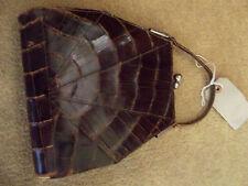 vintage faux crocodile handbag