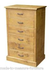 """""""any size made"""" New Real Solid Wood Chunky Rustic Plank Pine Chest Of Drawers"""