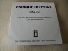 ENRIQUE IGLESIAS - MAYBE - 2 TRACK PROMO CD SINGLE