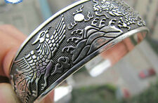 EXQUISITE TIBETAN TIBET SILVER TOTEM BANGLE CUFF BRACELET ( DRAGON ) 14