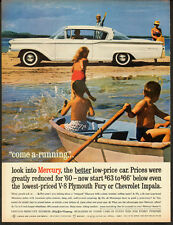 1960 Vintage ad for Mercury/Lincoln-Mercury Division/White/Kids/Boat (061113)