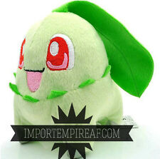POKEMON CHIKORITA PELUCHE Germignon Endivie 152 plush doll nero bianco banpresto