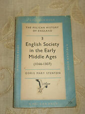 Vintage Collectable Book Of English Society In The Early Middle Ages - 1955