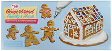 Gingerbread Family & House Stencil / Cutters Icing Bag Coupler & Nozzle Tala