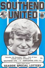 Southend United V Hartlepool  ,1985  Football League Division 4 match Programme