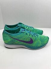 Nike Flyknit Racer Sport Turquoise Green Black Mens Shoes 526628-301 Size 12