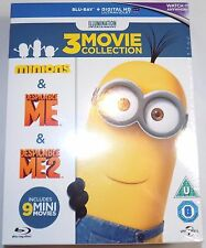 MINIONS 3-MOVIE COLLECTION (Despicable Me 1 + 2 & Minions) Brand New BLU-RAY Set