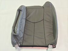 """03-06TAHOE,SILVERADO,SUBURBAN LEATHER DRIVER BACKREST- MED. PEWTER """"GRAY"""" #922"""