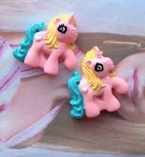 4x My little pony pink blue unicorn resin cabochon embellishment flat back