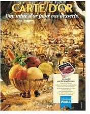 PUBLICITE  1984  MOTTA   glaces CARTE D'OR