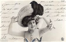 BE470 Carte Photo vintage card RPPC Femme woman Mode Fashion chapeau Hat