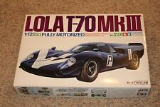 Rare TAMIYA 1:12 LOLA T-70 Mk III *Big Scale Motorized model kit 1206 Vintage