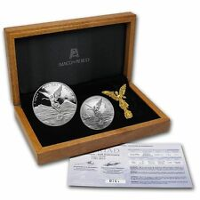 2012 LIBERTAD 30th ANNIVERSARY SET 1oz Proof, 1/2oz BU Silver Coins box/coa