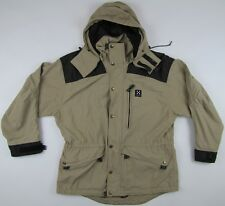 Haglofs Climatic Teflon nylon beige hooded jacket parka womens Large? L