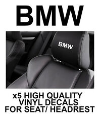 BMW LOGO HEADREST CAR SEAT DECALS Vinyl Stickers - Graphics X5