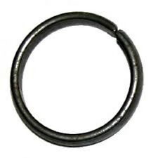 FREE SIZE - Black Horse Shoe Iron Shani Rings