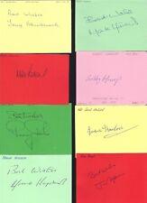 Carta firmata da Mark Robins 1988-92 il Manchester United CALCIATORE