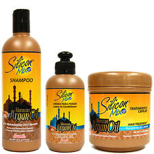 Silicon Mix Moroccan Argan Oil Shampoo LeaveIn Conditioner Treatment SET(3-PACK)
