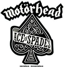 Motorhead 'Ace of Spades' self cling CLEAR vinyl window sticker Lemmy 9x9cm