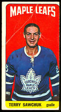 1964 65 TOPPS TALL BOYS HOCKEY #6 TERRY SAWCHUK VG-EX TORONTO MAPLE LEAFS CARD