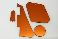 Orange Mirror Gibson Les Paul Pickguard, cavity covers, and Truss rod cover set