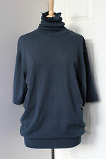 MARTIN MAISON MARGIELA blue turtleneck oversized knit jumper sweater Medium M