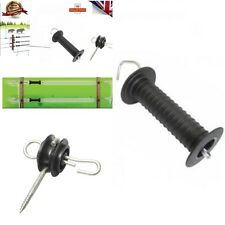 NEW 2 x Electric Fence Heavy Duty Gate Handle and 4 x Gate Anchor Insulator BARG