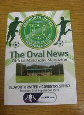 02/09/2014 Bedworth Unidos V Coventry Esfinge [ Fa Cup ]. estamos encantados de ser Ab