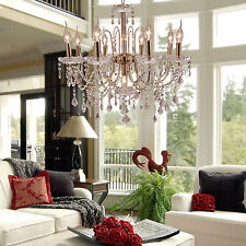 Elegant Delicate Crystal Chandelier Ceiling Light 9Lamp Pendant Lighting Fixture