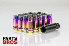 Neo Chrome Open Extended End Steel Lug Nuts Honda Civic Integra Toyota 12x1.5