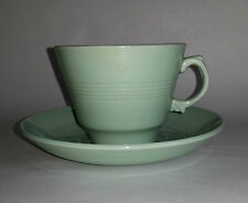 Vintage 50s Woods Ware BERYL (Pale Green) Duo (Cup & Saucer) #2. Kitchen/ Cafe