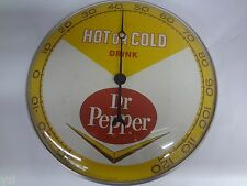DR PEPPER SODA ROUND 1963  ADVERTISING VINTAGE  THERMOMETER SIGN  473-W