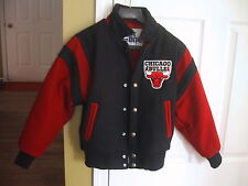 Vtg Boys Childs Michael Jordan Chicago Bulls Wool Jacket Chalkline See Size USA