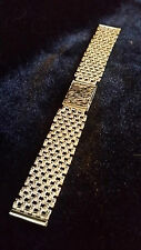 9ct SOLID GOLD 18mm_33.7g WATCH BRACELET,for 18k-9k OMEGA,LONGINES,ROLEX etc,NEW