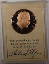 1972 Richard Nixon Re-election Campaign Proof Franklin Mint Bronze Medal (check)