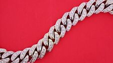 Miami Cuban Link Bracelet 190 Grams 10k White Gold 9 Carat Diamonds Video ASAAR