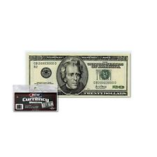 1 Pack 100 BCW Currency Soft Poly Sleeves Regular Size Bill Storage Holder