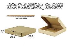 10 SCATOLA CARTONE 20 ,5x20,5x3,5 FALDONI IMBALLO  CARTELLETTE BAULETTO PIATTA