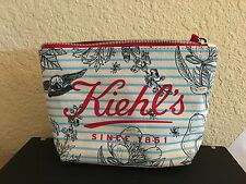 Kiehl's Cosmetic Makeup Bag Zipper Travel Pouch