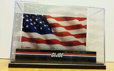 G.I. Joe custom Furled American Flag Diorama Display Case for action figures
