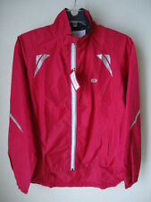 SUGOI Zap Reflective Jacket Womens Medium Cherry Red Cycling Running Repels Wind